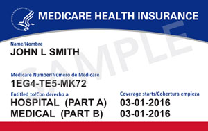 Medicare Card Part A and Part B